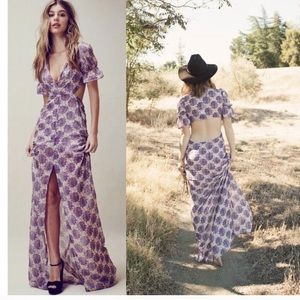 For Love and Lemons purple floral maxi dress
